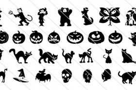 150 Spooky Halloween Vector Drawings Icons