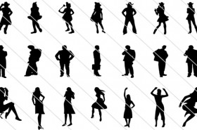 People Silhouettes Vector – 300 Incredibly Detailed Graphics