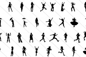 Womens Silhouette Vector