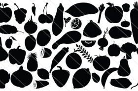 Silhouette Fruits & Vegetables cover (45)