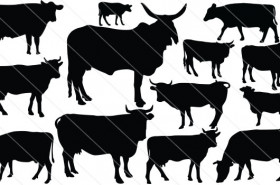 Cow Silhouette Vector (13)