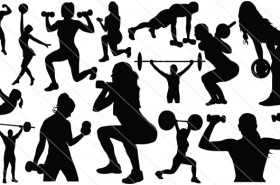Fitness Silhouette Vector (14)