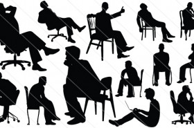 Man Sitting Silhouette Vector (12)