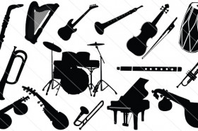 Music Instruments Silhouette Vector (15)