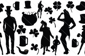 St Patrick Silhouette Vector (24)