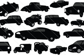 Vintage Classic Cars Silhouette Vector (16)