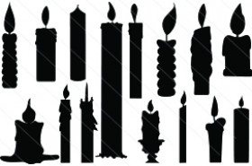 Candle Silhouette Vector (15)