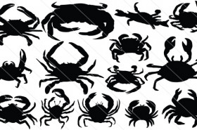Crab Silhouette Vector (14)