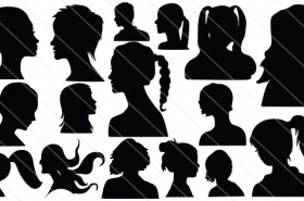 Face Silhouette Vector (16)
