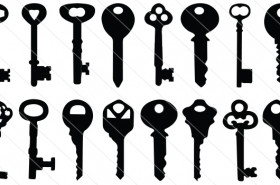 Key Silhouette Vector  (16)
