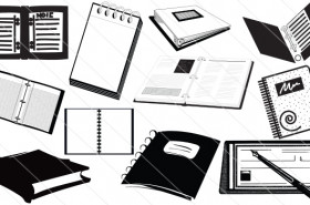 Notebook Silhouette Vector (11)