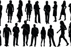 People Silhouette Vector (18)