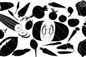 Vegetables Silhouette Vector (24)
