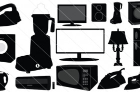 Electronic Home Appliances Silhouette Vector (15)
