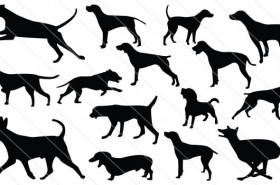 Dog Silhouette Vectors