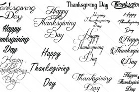 Thanksgiving Calligraphy Text