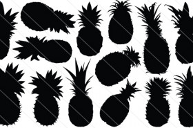 Pineapple Vector Graphics