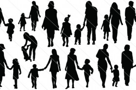 Mother & Child SVG Cut Files Silhouette Vector