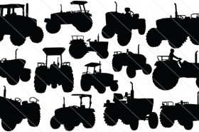 Tractor Vector Graphics