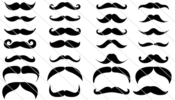 Hipster Mustache Vector Collection (35)