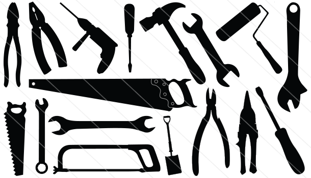 Construction Tools Silhouette Vector (18)