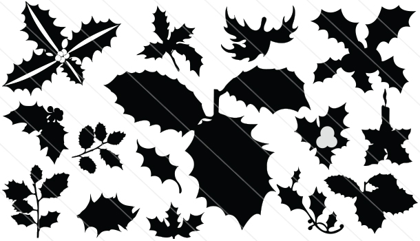 Holy-leaf Silhouette Vector (15)
