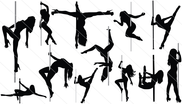 Pole-Dancer Silhouette Vector (12)