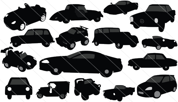 Vintage-Classic-Cars Silhouette Vector (16)