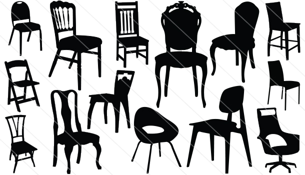 Chair Silhouette Vector(14)