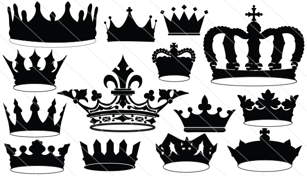 Crown Silhouette  Vector (14)