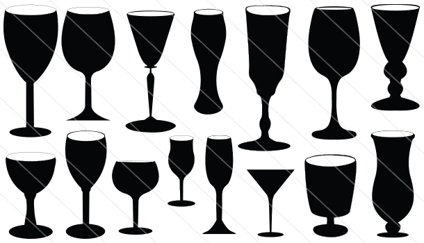 Drinking Glass Silhouette Vector (15)