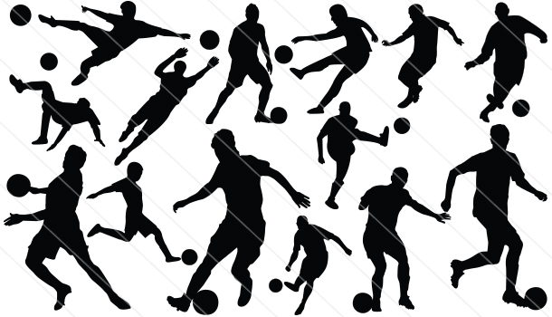 Football Player Silhouette  Vector (14)