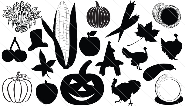 Thanks Giving Silhouette Vector (19)