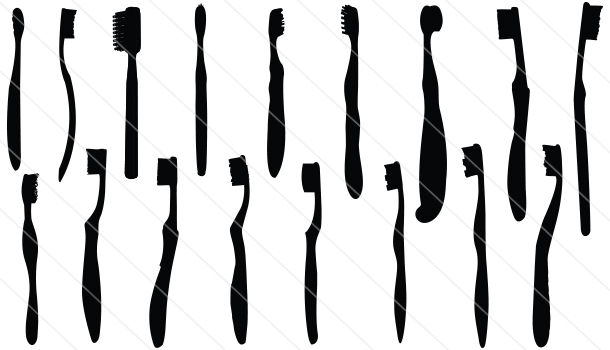 Toothbrush Silhouette Vector (17)
