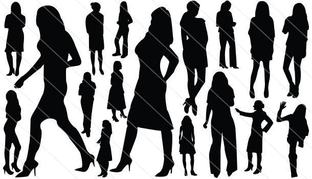 Womens Silhouette Vector (17)