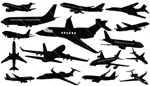 Airplane Silhouette Vector(16)