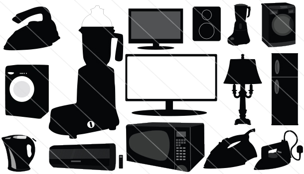 Electronic-Home-Appliances- Silhouette Vector (15)