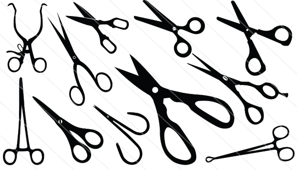 Scissors Silhouette Vector (11)
