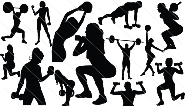 Working Out Silhouette Vector (12)