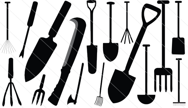 Agriculture Tools Silhouette Vector(16)