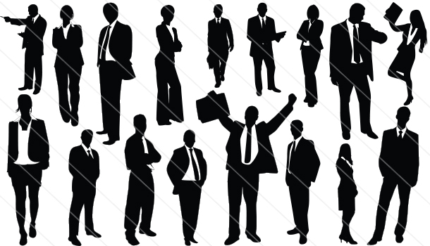 business people Silhouette Vector (17)