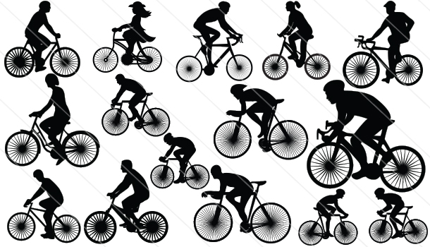 Cycle Silhouette Vector (15)