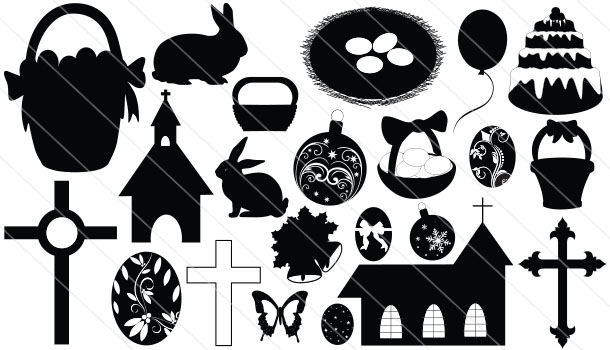 Easter Silhouette Vector