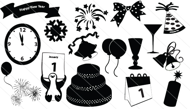 New year Silhouette Vector (17)
