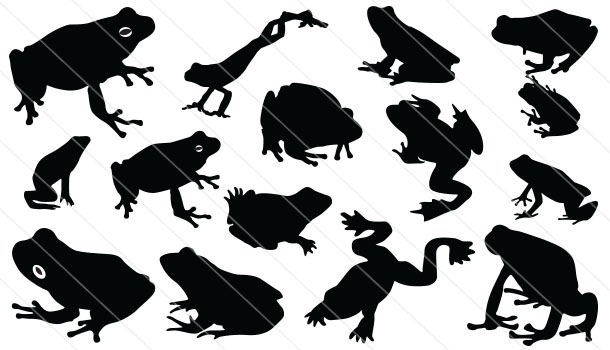 Frog Silhouette Vector (15)