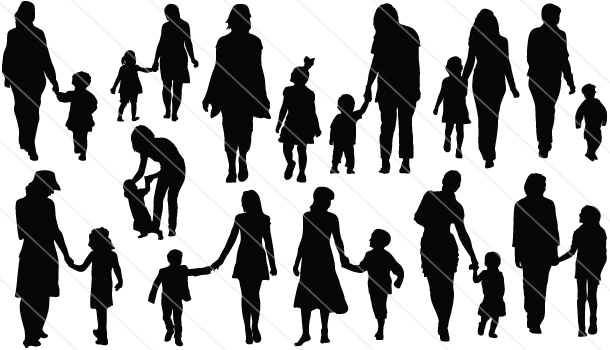 Mother Silhouette Vector